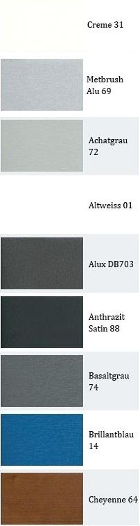 χρώματα κουφωμάτων pvc με παραγγελία