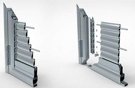 Single shutter aluminum