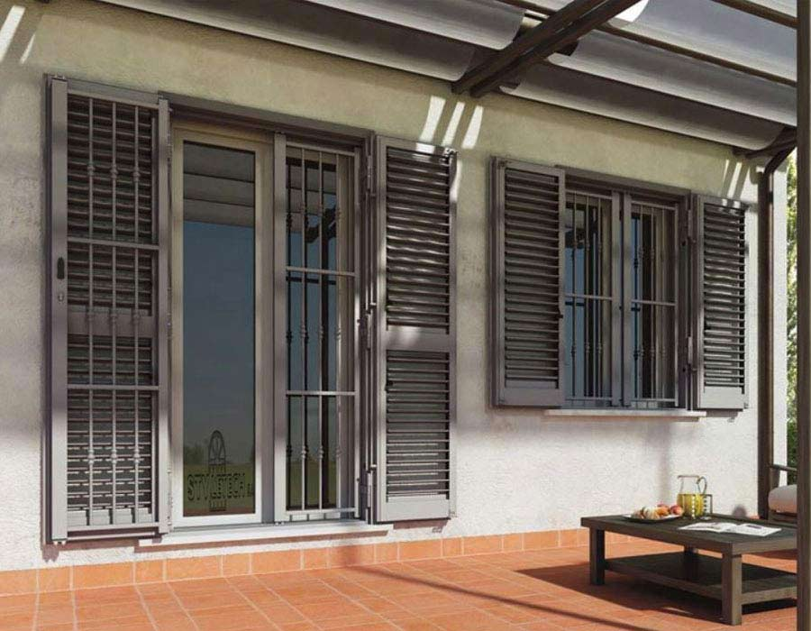 Aluminum shutters heavy-duty type inviolable