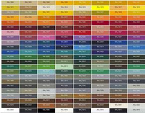 Όλα τα χρώματα των καταλόγων μας,  συσχετίζονται, μαζί με την παλέτα και το όνομα